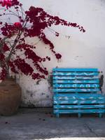 Blue Bench in Larnaca