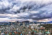 dark clouds over seoul