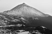 Mount Teide In Winter Monochrome