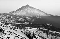Winter In Teide National Park Monochrome