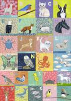 Animal ABC Collage Poster