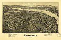 Aerial View of California, Pennsylvania by T.M. Fo