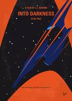 No931 My ST Into Darkness minimal movie poster