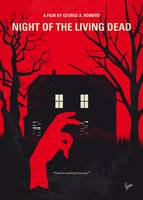 No935 My Night of the Living Dead minimal movie po