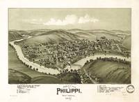 Bird's eye view of Philippi, West Virginia (1897)