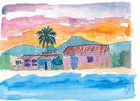 Caribbean Beach House Bodega At Sunset