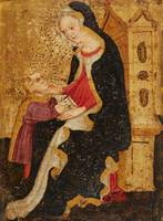 Italian School, early 15th century, Virgin and Chi
