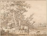 Jacob Cats 1741-1799 Cows and Sheep Watering and R