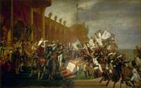 Jacques Louis David - The Army Takes an Oath to th