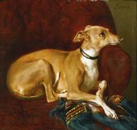 Jacques Raymond Brascassat 1804 - 1867 A GREYHOUND