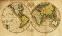 Map of the World by Mathew Carey (1795)