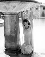 Jill St. John with Fountain