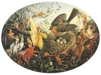 John Anster Fitzgerald - Cock Robin defending his