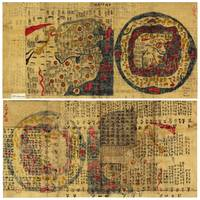 Front & Back Map of the Thirteen Provinces China c
