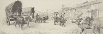 Unknown Artist, 19th century, A Street in Colombo,