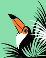 Stylized Toco Toucan