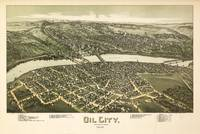 Aerial View of Oil City, Pennsylvania (1896)