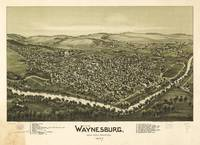 Aerial View of Waynesburg, Pennsylvania (1897)