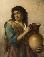An Egyptian Beauty by Thomas Kent Pelham (1860-189