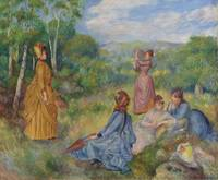Pierre-Auguste Renoir - Young Women Playing Badmin