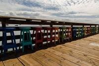 Avila Beach Pier Multicolored seating