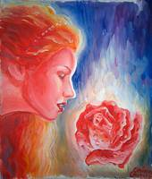 Sappho the rose of Aphrodite painting