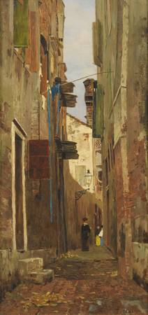 Tina Blau-Lang VIENNE 1845 - 1916  STREET IN ITALY