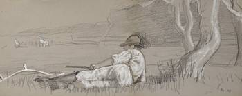 Winslow Homer 1836 - 1910 NOON-DAY REST AND TWO ME
