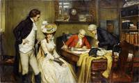 Knowles, George Sheridan - Signing the marriage co