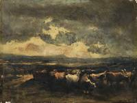 NARCISSE VIRGILE DIAZ DE LA PEÑA ; COWS BEING FRIG