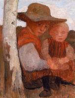 Paula Modersohn-Becker (1876 - 1907), Girl with St