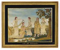 SILK EMBROIDERED PICTURE, THE OLD TESTAMENT STORY