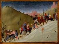 The Journey of the Magi ,  Sassetta (Stefano di Gi
