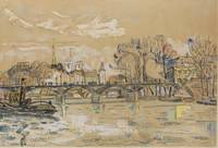 Paul Signac 1863 - 1935 LA SEINE AU PONTS DES ARTS