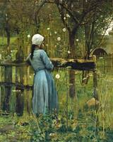 William Stott of Oldham - Girl in a Meadow