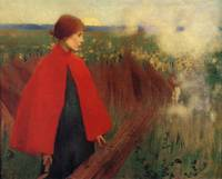 Marianne Stokes - The Passing Train 1890