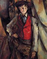 THE ADOLESCENT IN RED JACKET , PAUL CEZANNE