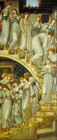 Sir Edward Coley Burne-Jones - The Golden Stairs,