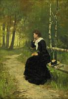 Walter Dendy Sadler - Girl on a Bench