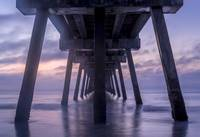 Below Jacksonville Beach Pier Blue Hour