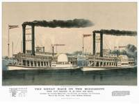 The Great Race On The Mississipi Currier & Ives st