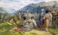 William Simpson - Circassians at the Fort of Waia,