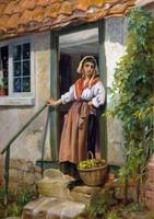 Thomas Kent Pelham - At the Cottage Door