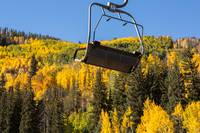 Vail Chair Lift with Fall Colors