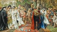 Sir John Gilbert - The marriage of Katherine and P