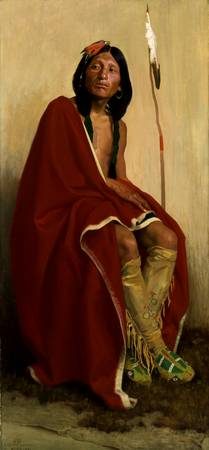E. Irving Couse - Elk-Foot of the Taos Tribe