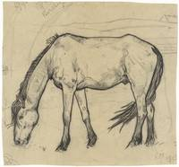 Grazing horse in Noordwijk, Richard Roland Holst,