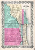Vintage Map of Chicago IL (1855)