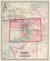 Vintage Map of Colorado (1873)