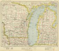Vintage Map of Lake Michigan (1883)